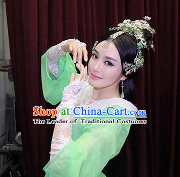 Chinese Stage Performance Classic Dance Apparel Folk Dancing Headdress Headpieces Hair Accessories