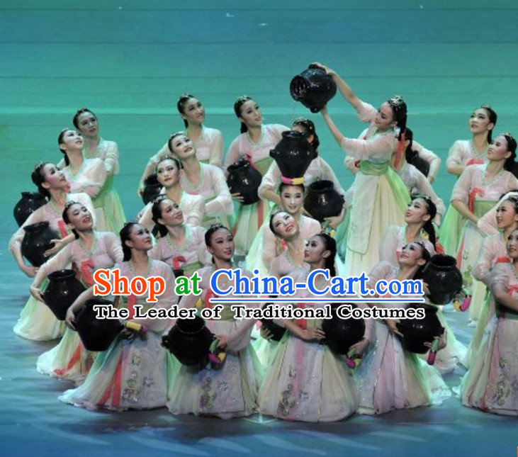 South Korean North Korea Chaoxian Minority Dance Costumes Complete Set for Women