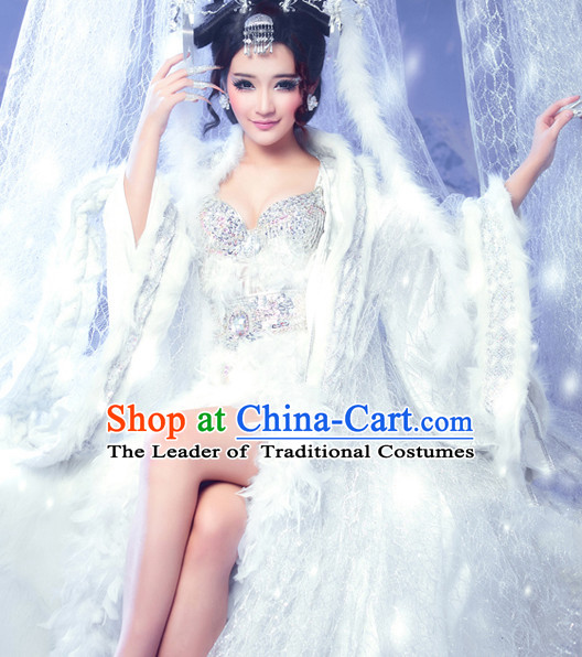 Chinese Winter Queen Costume Ancient China Costumes Han Fu Dress Wear Outfits Suits Clothing for Women