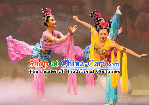 Ancient Chinese Style Fairy Dance Costume Chinese Ancient Costumes Carnival Costumes Fancy Dress Complete Set