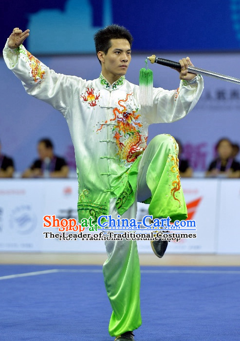 Top Grade Kung Fu Asian China Tai Chi Taichi Gradient Taichi Clothing Beijing Qi Gong Yoga Uniform for Men