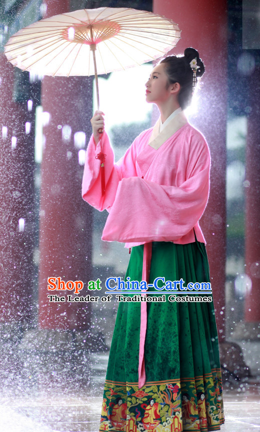 Chinese Costume Ancient Asian Korean Japanese Clothing Ming Dynasty Clothes Garment Outfits Suits for Women
