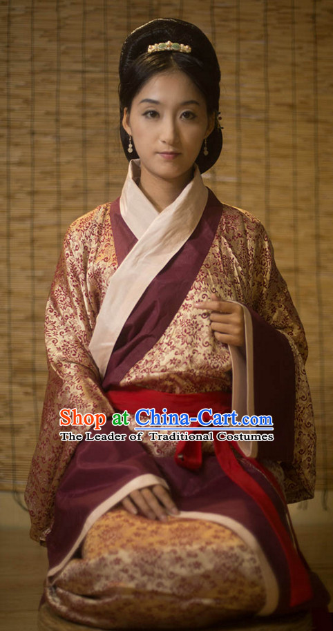 Chinese Costume Ancient Asian Clothing Han Dynasty Clothes Garment Outfits Suits Dress for Women