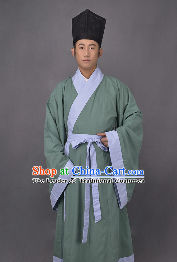 Chinese Costume Ancient Asian Korean Japanese Clothing Han Dynasty Clothes Garment Outfits Suits for Men