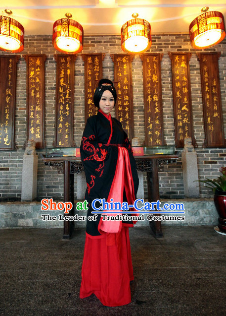 Chinese Costumes Chinese Ancient Costumes Han Dynasty Dress Costume and Hat Complete Set