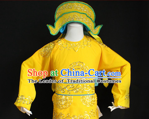 Chinese Costumes Chinese Opera Solider Costumes Dress Costume and Hat Complete Set