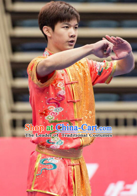 Top Wushu Long Fist Competition Suits Changquan Tourament Qigong Kung Fu Training Clothes Shaolin Outfit Martial Arts Uniform for Men Women Girls Boys Kids Adults