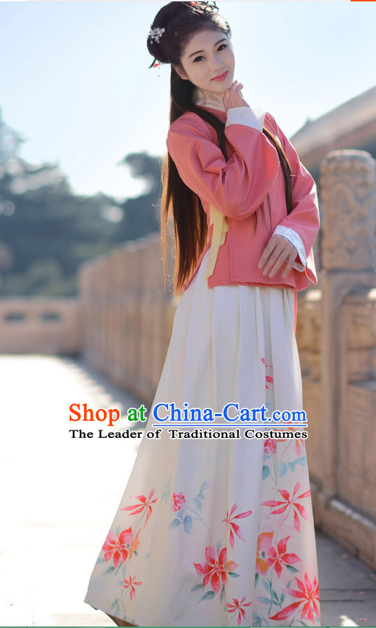 Ancient Chinese Ming Dynasty Clothing for Women Adults Kids Girls