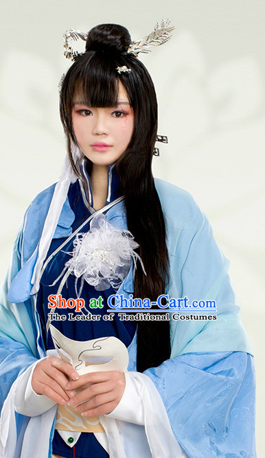 Chinese Costume Ancient China Dress Classic Garment Suits Swordswoman Superheroine Cosplay Clothes Clothing Complete Set for Women