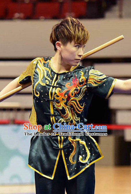 Top Professional Wushu Martial Arts Kung Fu Competition Uniforms Suits Outfits for Girls Women Adults Kids Men Boys