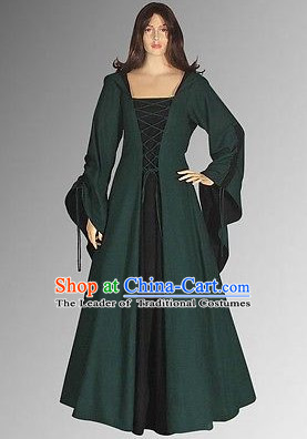 Traditional Medieval Costume Renaissance Costumes Historic Dresses Complete Set for Women