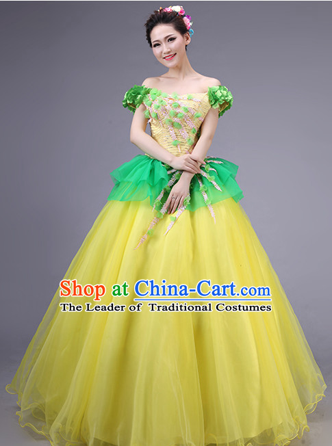 Asian Chinese Evening Dress Festival Performance Costume Fan Dancing Costume Uniform Outfits Stage Opening Dance Costumes Parade Competition Dancewear Complete Set