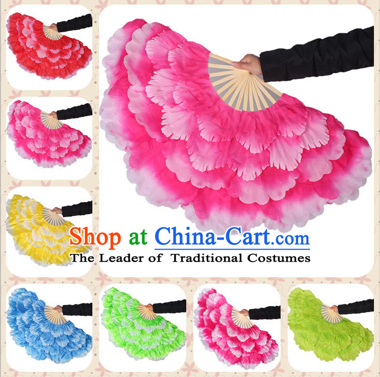 Traditional Peony Flower Dance Hands Fan Hand Fan Stage Performance Parade Korean Japanese Chinese Fan