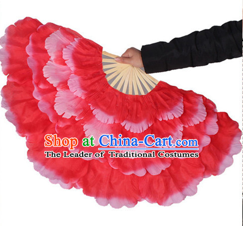 Traditional Red Peony Flower Dance Hands Fan Hand Fan Stage Performance Parade Korean Japanese Chinese Fan