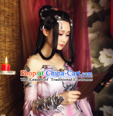 Ancient Asian Korean Japanese Chinese Empress Princess Style Female Wigs Toupee Wig Hair Extensions Sisters Weave Cosplay Wigs Lace for Woen