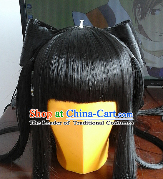 Ancient Asian Korean Japanese Chinese Style Female Wigs Toupee Wig