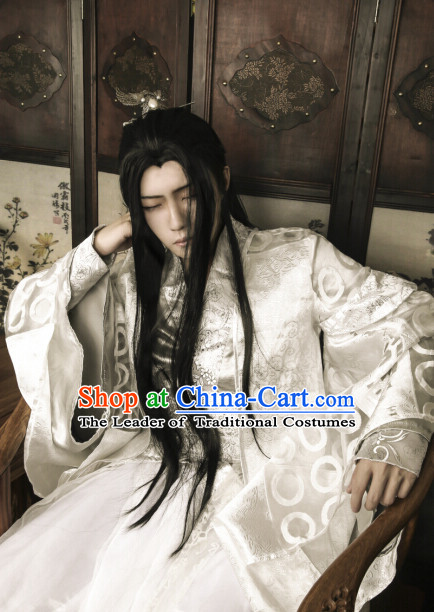 Ancient Chinese Style Weave Long Wigs for Men