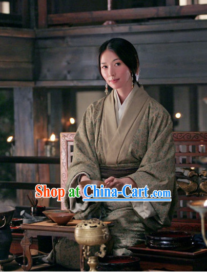 Chinese Classic Three Kingdoms Xiao Qiao Oriental Clothing Complete Set