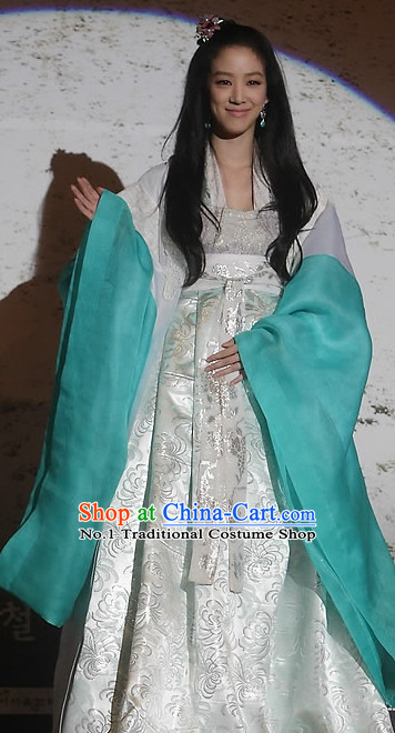 Korean Princess TV Drama Costumes and Hair Accessories for Women