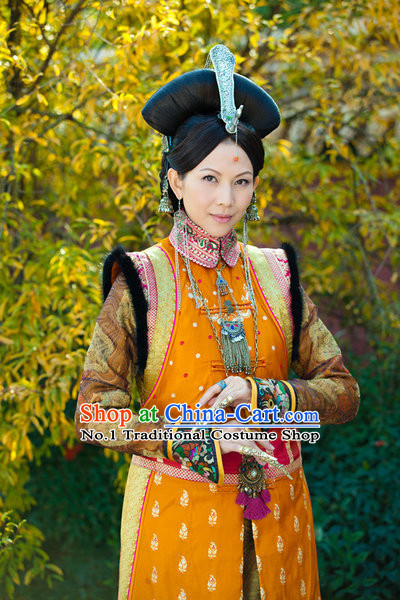 Asian Imperial Empress Clothing and Hair Jewelry Complete Set