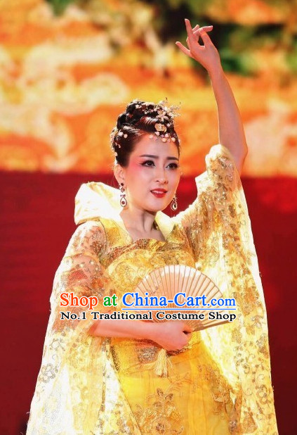 Yang Yuhuan China Beauty Traditional Chinese Costumes and Hair Accessories