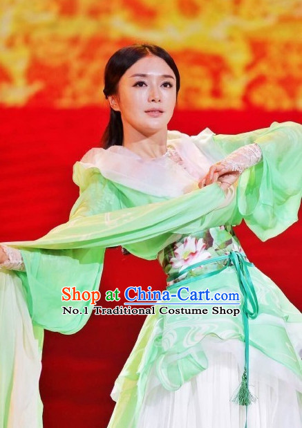 Eastern Zhou Dynasty Spring and Autumn Xi Shi China Beauty Traditional Chinese Green Costumes