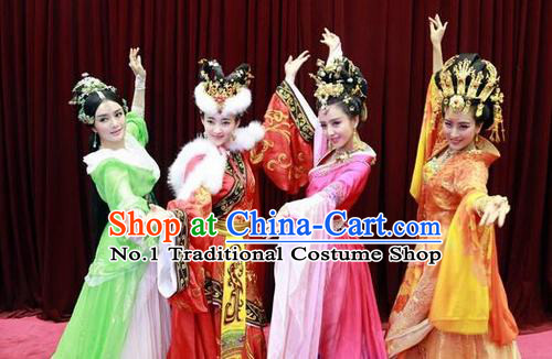 Chinese Ancient Four Beauties Costumes and Hair Jewelry Complete Sets
