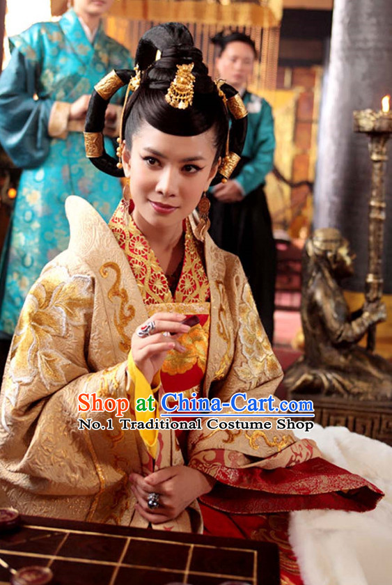 Chinese TV Drama Empress Costumes and Hair Accessories
