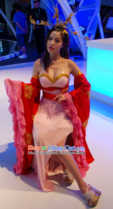 Asian Sexy Japanese Style Fairy Anime Costume