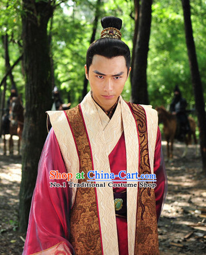 Chinese Traditional Chancellor Costumes and Coronet for Men