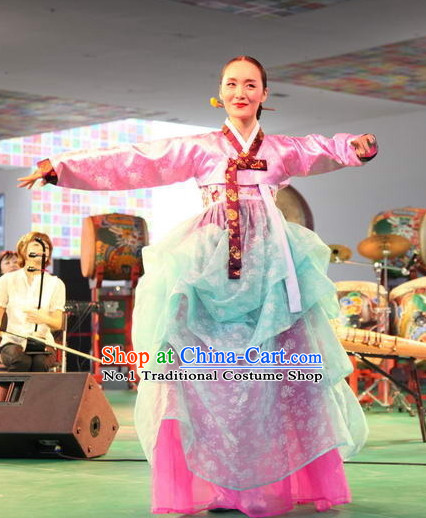 Korean Traditional Folk Dancing Costumes for Women
