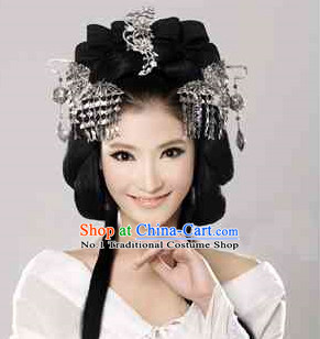 Chinese Princess Black Wig and Hair Accessories