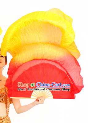 59 Inches Long Chinese Silk Dance Fan