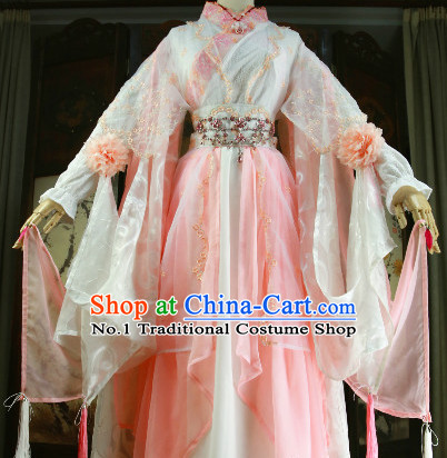 Beautiful Chinese Women Pink Fairy Costumes