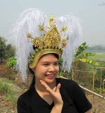 Traditional Thai Golden Headwear