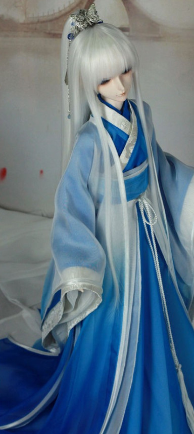 China Classical Pure White Dancing Costumes for Men