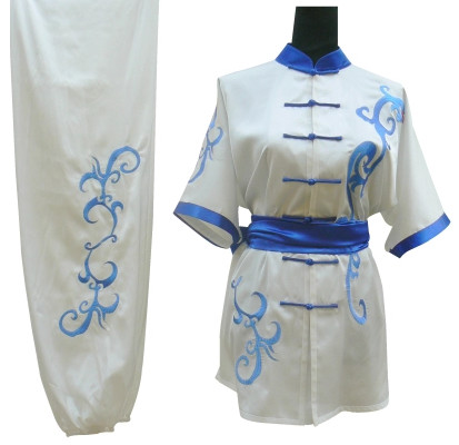 White Top Kung Fu Martial Arts Costumes Complete Set for Adults