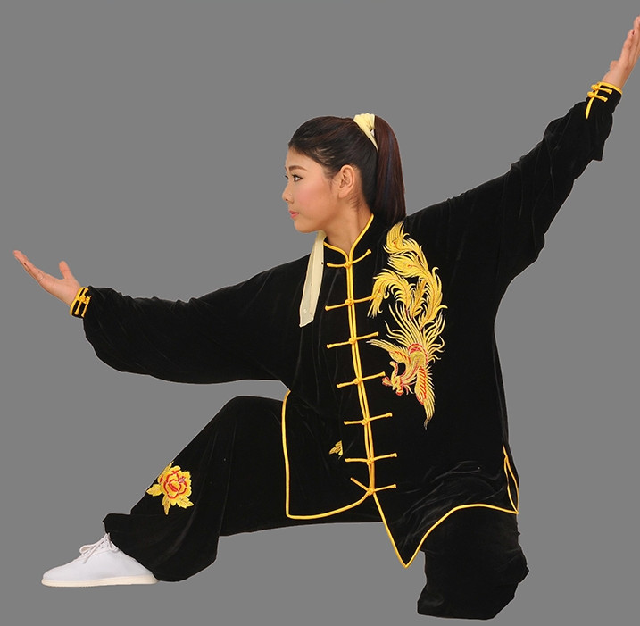 Top Phoenix Embroidered Tai Chi Competition Championship Suit