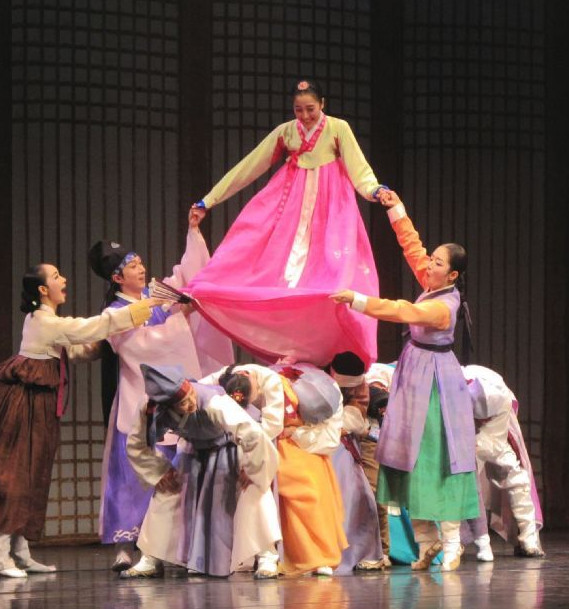 Korean Stage Qiu Xiang Hanbok Dance Costumes Carnival Costumes Traditional Costumes