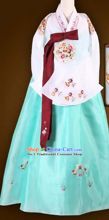 Traditional Ceremony Dress Custom Made Dangui Korean Royal Hanbok Costumes for Women