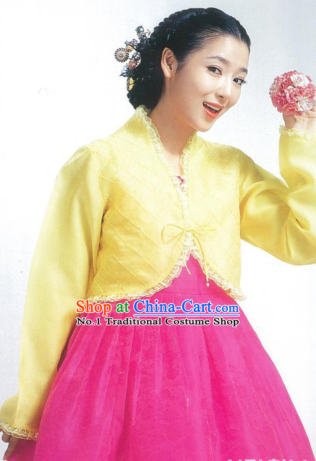 Traditional Korean Clothing Custom Made Women Hanbok Dangui Chima Hair Accessory Norigae Petticoat
