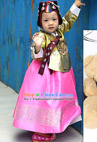 Top Korean National Costumes Kids Fashion Traditional Korean Clothes