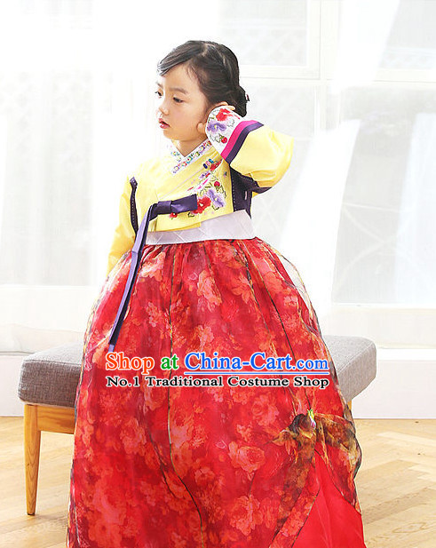 Korean Princess Traditional Hanbok Clothing Dress online Kids Clothes Designer Clothes