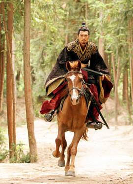 Ancient Chinese Black Swordsman Hanfu Costumes Complete Set