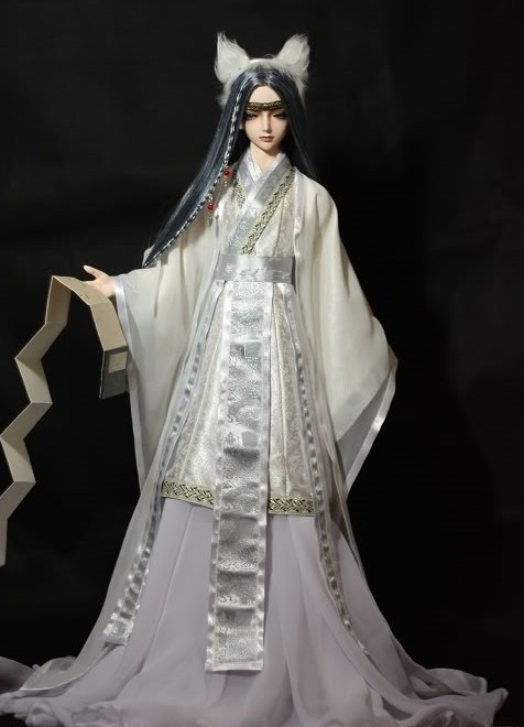 Asian Fashion Pure White Chinese Prince Cosplay Costumes