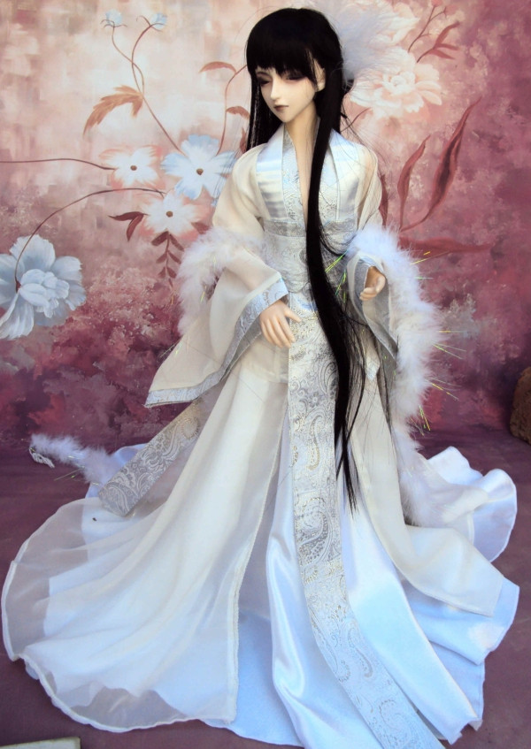 Asian Fashion Chinese Traditional White Hanfu for Adults