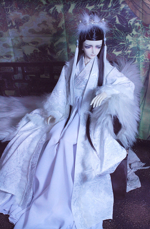 Asian Fashion Traditional Chinese White Hanfu Costumes for Adults