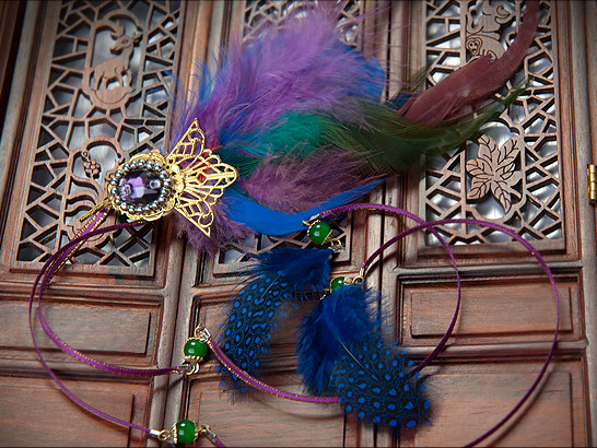 Chinese Traditional Handmade Feather Hairpin