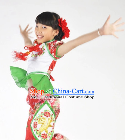Custom Made Chinese Modern Team Dance Costumes for Kids