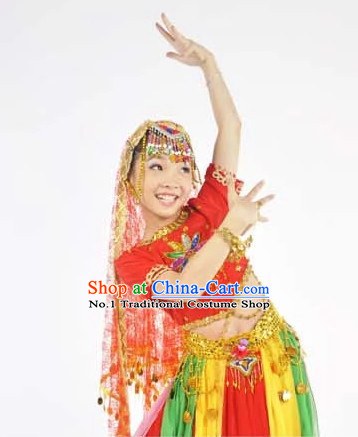 Custom Made Chinese Indian Kids Team Dance Costumes